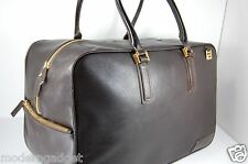 SUPPER BEAUTIFUL!!! GIANNI VERSACE MEN LARGE TRAVEL LEATHER BAG.MADE IN ITALY