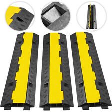 3pcs 2-Cable Protector Ramp Electrical Wire Cover 2 Channel Capacity 11000lbs