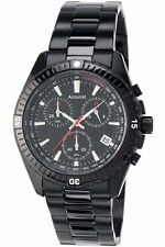 ACCURIST MEN'S BLACK CHRONOGRAPH WATCH - MB793B