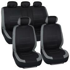 Black & Gray Performance Car Seat Covers 9pc Full Set