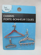 Bead landing jewelry making charms pendants ebay bead landing 3 clothes hanger charms silver toned mozeypictures Image collections