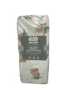 New Pottery Barn Kids Star Wars The Child Organic Crib Fitted Sheet