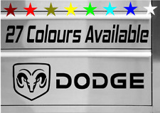 DODGE RAM CHARGER NITRO CHALLANGER TOOLBOX VINYL DECAL STICKER