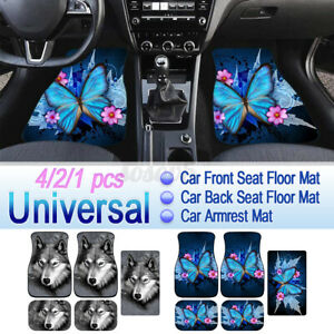 1/2/4pcs Universal Car Mats Rubber Anit Slip Dustproof Front Rear Armrest Pad AU