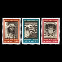 Luxembourg 1991 - Mascarons Art - Sc 860/2 MNH