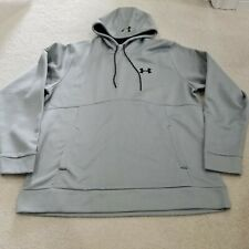 NWT Under Armour COLD GEAR GREY Full Zip Hoodie NWT Mens Size XL LOOSE