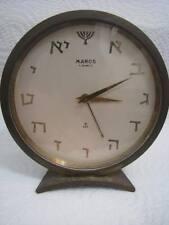 VINTAGE MENORAH & HEBREW LETTERS 8-DAYS CLOCK BY MAROS