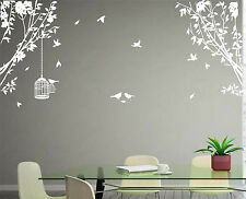 Large Side Wall Tree Branch Birds Art Vinyl Wall Sticker Wall Decal HIGH QUALITY