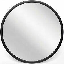 "Infinity Instruments Nera 22"" Hanging Wall Mirror, Black Matte Frame (Open Box)"