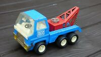 VINTAGE BLUE TINPLATE  PRESSED STEEL HD BREAKDOWN RECOVERY TOW TRUCK LORRY TOY