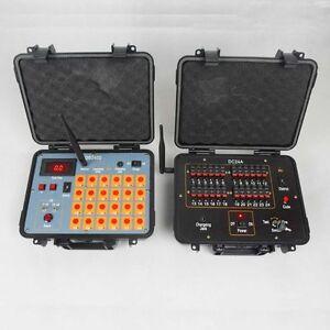 DHL shipping+24Channel fireworks firing system+300M Remote+2400cues transmitt