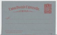 Tutta causa-Cile-MINR. p15-cartolina postale a 3 CENTAVOS [valore TIMBRO ROSSO]!!!
