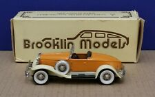 Brooklin 12 1:43 1931 Hudson Greater 8 Roadster Orange/ Cream Mint/ Box DB
