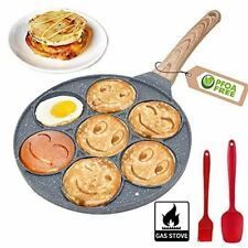 10 Inch Pancake Maker Pan With 7-Cup Waffle Mold Blini Pan Silver
