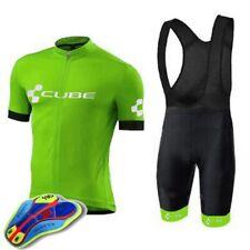 Mens Team Cycling Jersey Bib Shorts Kits Bicycle Jerseys Short Sleeve Bibs Q063