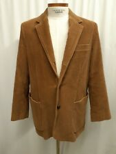 Abercrombie & Fitch Brown Corduroy Blazer Jacket Coat Medium Large 44 Cotton