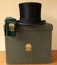 Vintage Lincoln Bennett Black Plush Silk Top Hat, Box Case & Cleaner. UK 6 7/8