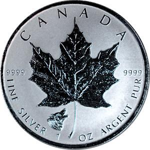 1 oz Silver Canada 2016 Reverse Proof Strike Wolf Privy .9999 Fine BU $5 Coin