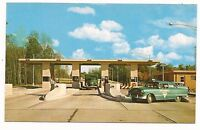 Mid 1950s Toll Plaza Ohio Turnpike Patrol Car 1 of 15 toll plazas post card