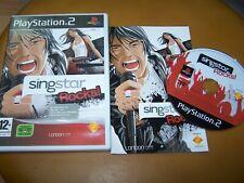 SINGSTAR ROCKS -  PS2 - VF - BOITE CD LIVRET