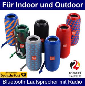 Tragbarer Bluetooth Lautsprecher Soundstation Radio MP3 SD USB Musikbox Soundbox