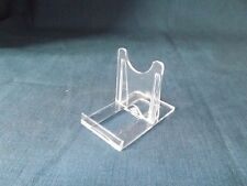 "Adjustable Display Stand Twist Fix Clear Acrylic/Plastic Small 4"" diameter item."