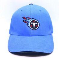 Tennessee Titans NFL Team Apparel Adjustable Hook & Loop Strap Hat Cap Blue