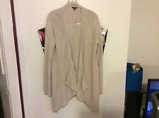 EXPRESS ASSYMETRICAL OPEN FRONT CARDIGAN BEIGE LARGE EUC FAST SHIPPING!!