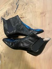 Siamanto women's black leather boots size 8.5