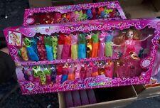 Set 30 vestitini e bambola altezza barbie gioco di qualità giocattolo toy
