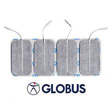 GLOBUS 4pz ELETTRODI Elettrostimolatore UNIVERSALI ADESIVI 5x9 PLUS Rettangolari
