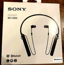 Sony WI-C400 Wireless Stereo Headphones Neckband Bluetooth, WI-C400 Black