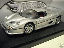 FERRARI  F50 berlinetta HT silver 1/18 HOT WHEELS MATTEL M1198 voiture miniature