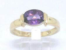Amethyst Ring 585 Gelbgold 14Kt Gold mit facettiertem Amethyst