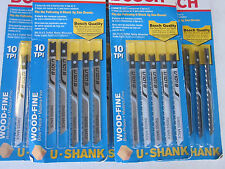 "LOT OF 25 BOSCH 3-1/2"" JIGSAW BLADES U 101 B HCS 10-TPI WOOD FINE CUT U-SHANK"