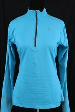 Nike Womens Blue Dri Fit Element Running Pullover Top Size Medium M