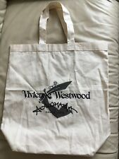 New Vivienne Westwood Anglomania canvas 100% cotton organic shopper bag tote