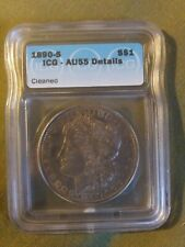 1890-S Lower Mintage ICG Details Lightly Cleaned Toned Morgan Silver Dollar