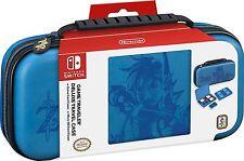 Nintendo Switch Game Traveler Link Deluxe Travel Case Zelda Wild Link Blue - NEW