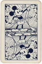 Playing Cards 1 Single Card Old Vintage DISNEY Named MICKEY MOUSE Musical Saw