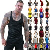 Mens Camo Gym Sports Tank Top Racerback Bodybuilding Fitness Muscle Vest Tops
