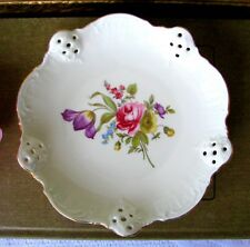 Rosenthal Classic Rose Cake Plate, German Rose Candy Bowl, Pierced Rim Nut Dish