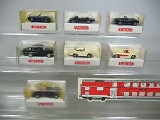 AF83-0,5# 7x Wiking H0 PKW: 834 Mercedes+828 BMW+817 Jaguar+819 etc, NEUW+OVP