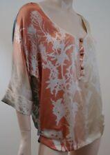DIANE VON FURSTENBERG Multi Coloured 100% Silk 3/4 Sleeve Summer Blouse Top UK10