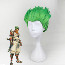 New Game Overwatch OW Genji Green Styled Cosplay Wig