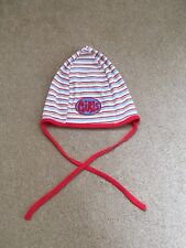 Baby girl striped hat 6-12 months