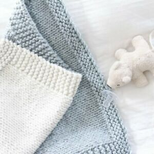 KNITTING KIT Baby Blanket Perfect for BEGINNERS Learn to Knit NEEDLES & WOOL INC