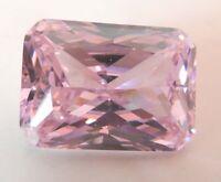 26.6ct 13x18mm AAAAA Light Pink Zircon Emerald Diamonds Cut VVS Loose Gemstones