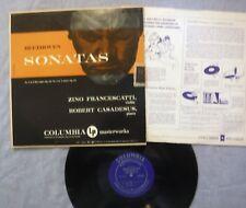Beethoven Sonatas 3 E-Flat Op 12 4 A minor Op 23 Casadesus Francescatti LP 1952