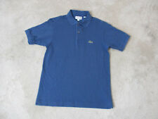 Lacoste Polo Shirt Adult Medium Size 5 Blue Crocodile Rugby Casual Mens